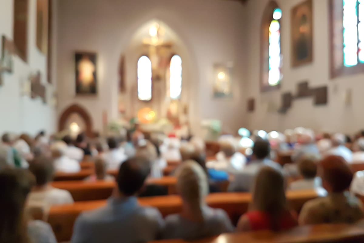 Photo of church mass